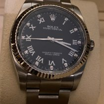 Rolex Oyster Perpetual Steel 36mm Black Arabic numerals