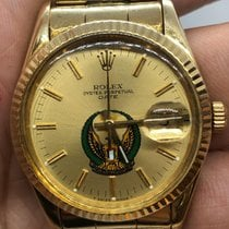 Rolex Oyster Perpetual Date 15037 Fair Yellow gold 34mm Automatic UAE, Abu Dhabi