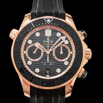 Omega Rose gold Automatic Black 44mm new Seamaster