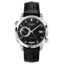 Glashütte Original Senator Diary Steel 42mm Black No numerals
