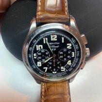 Zenith El Primero Chronograph occasion 40mm Noir Chronographe Date Cuir