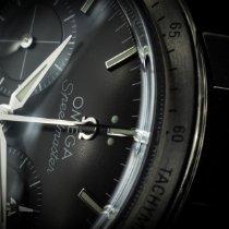 Omega Speedmaster '57 gebraucht 41.5mm Schwarz Chronograph Datum Stahl