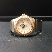 Omega Constellation Ladies Gold/Steel 27mm Mother of pearl No numerals Singapore, Singapore