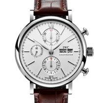 IWC Portofino Chronograph Zeljezo 42mm Srebro Bez brojeva