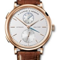 A. Lange & Söhne Red gold Automatic Silver No numerals 40mm new Saxonia