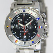 Corum Admiral's Cup (submodel) pre-owned 38mm Black Chronograph Steel