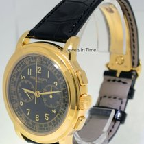 Patek Philippe Chronograph Gelbgold 42mm Schwarz