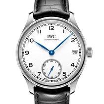 IWC Portuguese Hand-Wound Acier 43.2mm Blanc Arabes