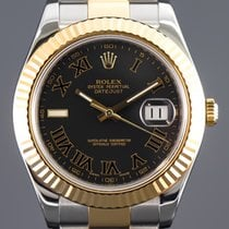 Rolex Datejust II Gold/Steel 41mm Black Roman numerals