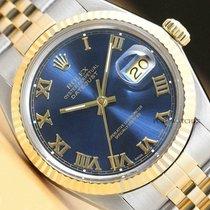 Rolex Datejust Ocel 36mm Modrá Římské