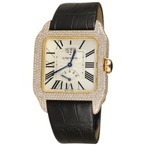 Cartier Santos Dumont Rose gold 38mm Silver Roman numerals United States of America, New York, NEW YORK CITY