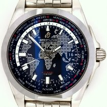 Breitling Galactic Unitime Steel 44mm Black No numerals United States of America, New York, New York