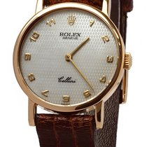 Rolex Cellini pre-owned 26mm White Leather