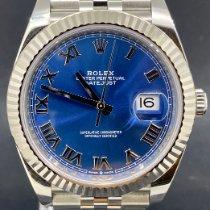 Rolex Datejust Acier 41mm Bleu Romain