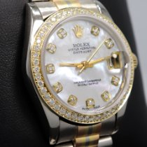Rolex Datejust Hvitt gull 31mm Bronse