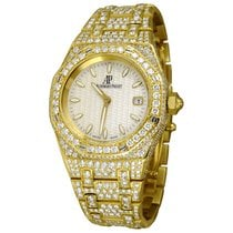 Audemars Piguet Yellow gold Automatic Silver No numerals 33mm pre-owned Royal Oak Lady