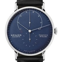 NOMOS White gold Manual winding Blue 42mm new Lambda