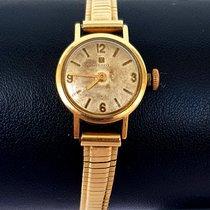 Tissot T-Lady rabljen 18mm Srebro Datum, nadnevak Zuto zlato