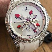 Perrelet Diamond Flower Acier 38mm Blanc Sans chiffres