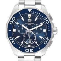 TAG Heuer Aquaracer 300M pre-owned 43mm Blue Chronograph Date Steel
