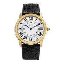 Cartier Pозовое золото Кварцевые Cеребро 36mm подержанные Ronde Louis Cartier