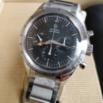 Omega Speedmaster Broad Arrow Steel Black No numerals