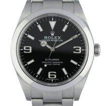 Rolex Explorer Stahl 39mm Schwarz