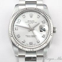 Rolex Oyster Perpetual Date Gold/Stahl 34mm Silber Arabisch Deutschland, München