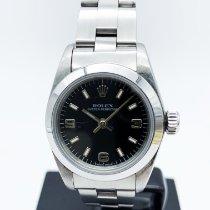 Rolex Oyster Perpetual 26 Stahl Schwarz