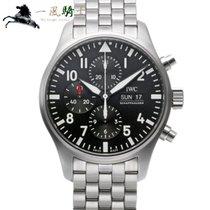 IWC Pilot Chronograph Сталь 43mm Чёрный