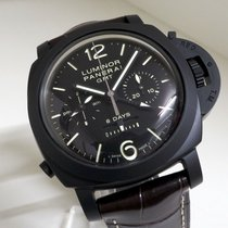 Panerai Luminor 1950 8 Days Chrono Monopulsante GMT Cerámica 44mm Negro