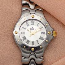 Ebel Sportwave Acier 28mm Blanc Romains
