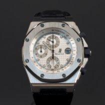 Audemars Piguet Royal Oak Offshore Chronograph pre-owned 42mm Silver Chronograph Date Leather