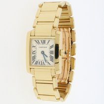 Cartier Tank Française Yellow gold 20mm Silver Roman numerals United States of America, New York, New York