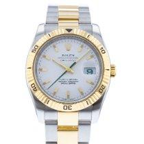 Rolex Datejust Turn-O-Graph Stahl 36mm Weiß