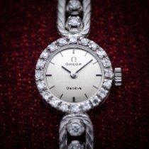 Omega Or blanc Remontage manuel Argent Sans chiffres 17mm occasion