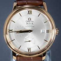 Omega De Ville Prestige Gult gull 39.5mm Sølv Romersk