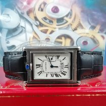 Cartier Tank (submodel) pre-owned 26mm White Date Leather