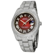 Rolex Datejust Steel 41mm Red Roman numerals United States of America, New York, NEW YORK CITY
