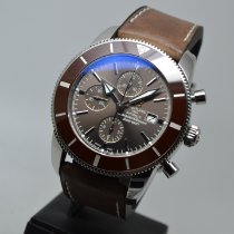 Breitling Superocean Héritage II Chronographe pre-owned 46mm Brown Chronograph Date Leather