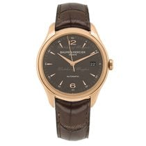 Baume & Mercier Red gold Automatic Grey 39mm new Clifton