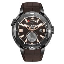 Clerc Hydroscaph GMT Steel 44mm Brown Arabic numerals United States of America, Florida, Miami