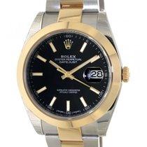 Rolex Datejust II Gold/Steel 41mm Black No numerals