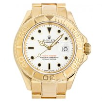 Rolex Yellow gold Automatic White No numerals 40mm pre-owned Yacht-Master 40