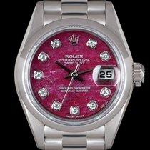 Rolex Platino Automático Plata 26mm usados Datejust