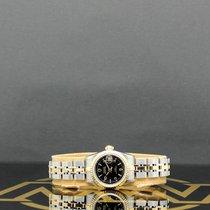 Tudor Stahl Automatik Schwarz Arabisch 24mm gebraucht Prince Date