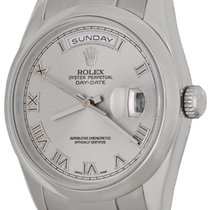 Rolex Day-Date 36 Or blanc 36mm Romains