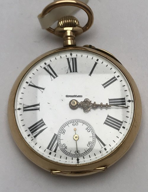 Gelbgold Taschenuhr 1920 pre-owned