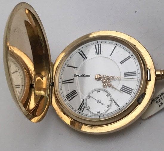 Unikatuhren Sprungdeckel Goldtaschenuhr 1920 pre-owned