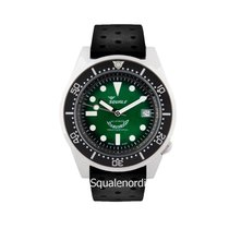 Squale 鋼 42mm 自動發條 026 Squale 1521 Green Professional Limited 新的
